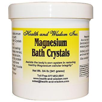 Health and Wisdom, Magnesium Bath Crystals, 3/4 lb (341 g)