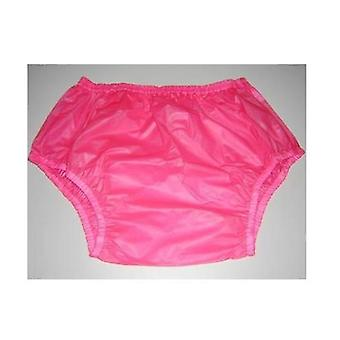 Pink, Large Size-2pcs Pull On Plastic Pants