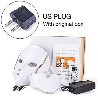 Led Facial Mask Therapy 7 Colors - Skin Care Wrinkle Acne Removal