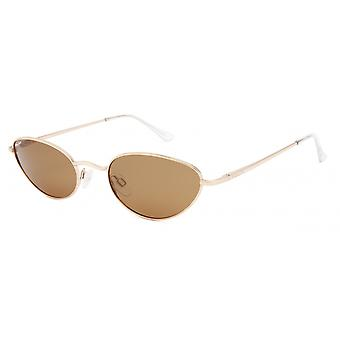 Sunglasses Women's Abby Polarized Gold with Brown Lens (pabb02/Gold)