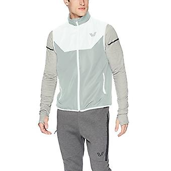 Peak Velocity Men's Zephyr Windbreaker Loose-Fit Vest, White/Stone Grey, XXXX...