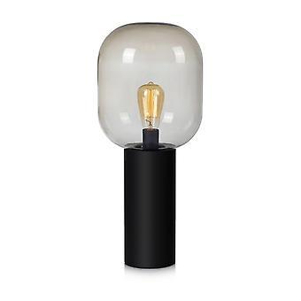 1 lichte binnentafellamp zwart, E27