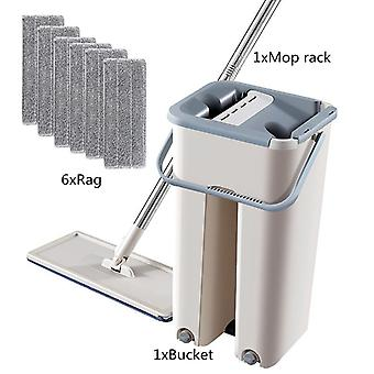 Automatic And Bucket Avoid Hand Washing Microfiber Cleaning Cloth Floor Mop Set