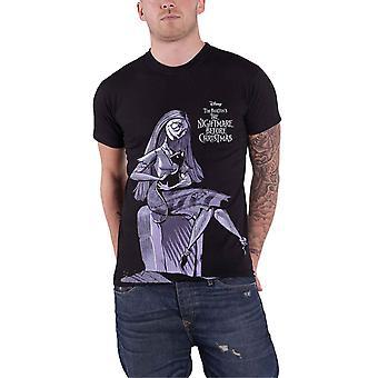Disney T Shirt The Nightmare Before Christmas Sally Jumbo Official Mens Black