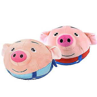 Cartoon Pig Jumping Ball Funny Music's Toys Birthday (color aleatorio)