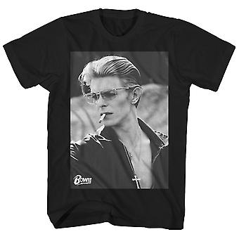 David Bowie T Shirt Smoking Portrait David Bowie T-Shirt