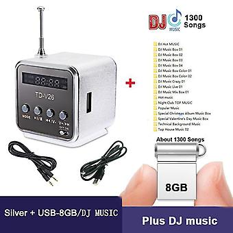Radio fm portatile con Micro Sd / Tf / Usb 8gb Ricevitore scheda Mp3 Music Player -