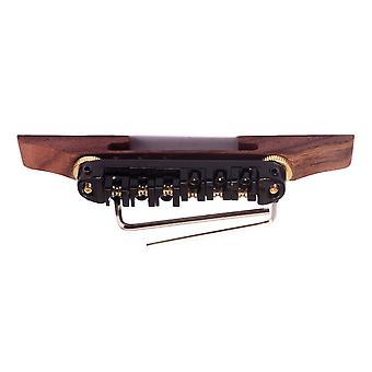 Surfen Archtop JAZZ Gitarre Tailpiece Bridge Roller Saddles Schwarz