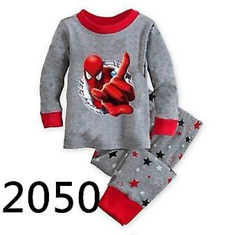 Pyjamas pour enfants et apos, ressort, t-shirt à manches longues+pant, ensemble de vêtements de nuit pour bébés-2