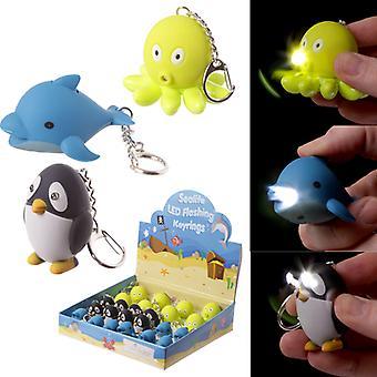Porte-clés mignon LED Sealife