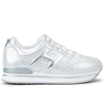 Sneakers Donna Hogan H222 Argento In Pelle