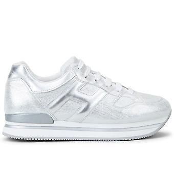 Dames Sneakers Hogan H222 Zilver leer