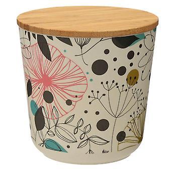 Wisewood Botanical Bamboo Storage Jar, Small