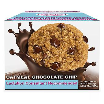 Mommy knows best ready to eat gluten & dairy free oatmeal chocolate chip cookies, 10 ea