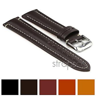 Strapsco water resistant leather watch strap