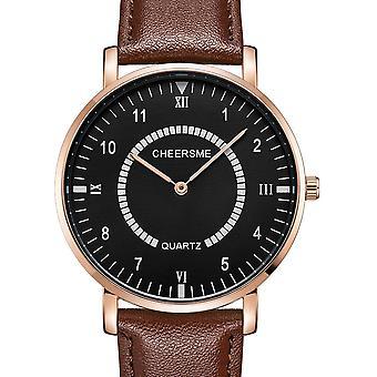 CHEERMES 253 Waterproof Men Wrist Watch Casual Style Ultra-thin Design Quartz
