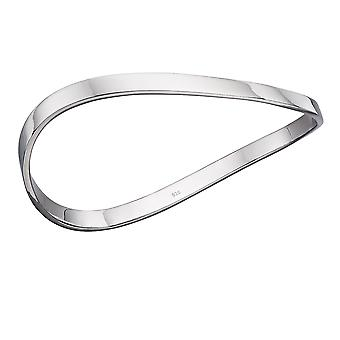 Fiorelli Silver Womens Rhodium 925 Sterling Silver Wave Armring Armband