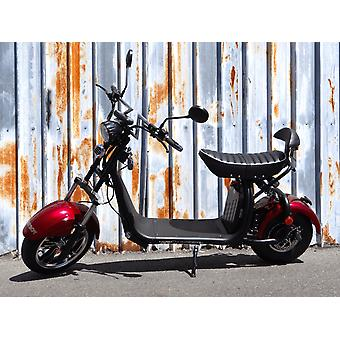 """Fatboy City Coco Smart E Electric Scooter Harley - 13 """"- 1500W - 20Ah - Clase B - Rojo"""