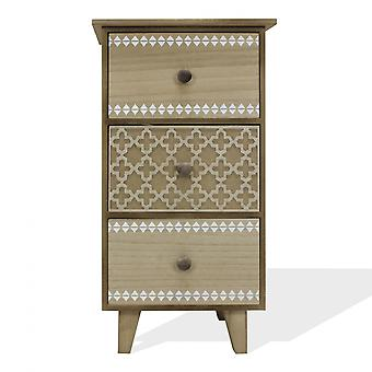 Rebecca Furniture Bedside Chest of Drawers 3 Drawers Vintage Wood Room 56.5x30x25