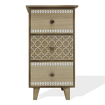 Rebecca Huonekalut Yöpöydät Lipas 3 Laatikot Vintage Wood Room 56.5x30x25