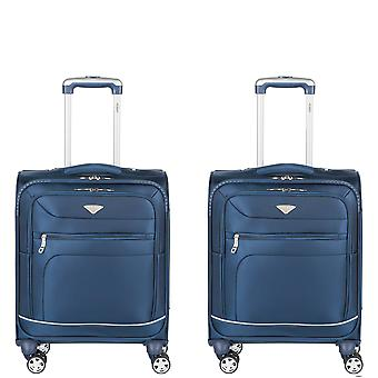 Flight knight lightweight 8 wheel 840d soft case cabin suitcases & hold luggage