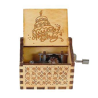 Wooden Spirited Hand-cranked Music Box.