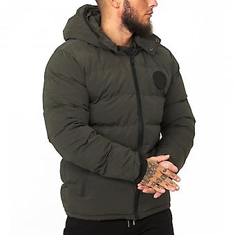 Soul Star Miche Puffer Jacket Olive Green