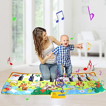8 Styles Musical Mat with Animal Voice Baby Piano Playing Carpet Music Game Instrument Toys Early Educational Toys for Kids Gift