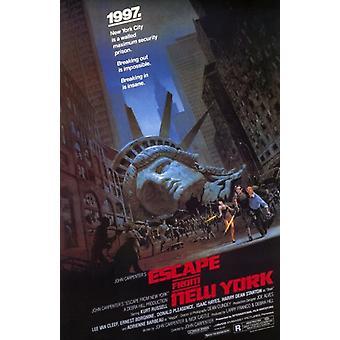 Escape from New York elokuvajuliste (11 x 17)