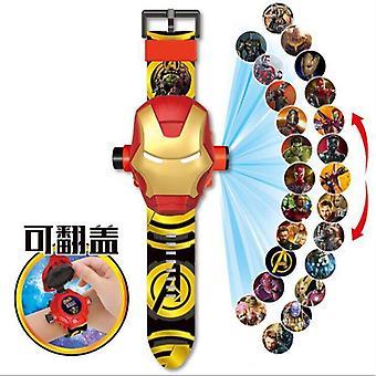 Children Watch Projection Cartoon Ultraman Spiderman Ironman Princess Digital
