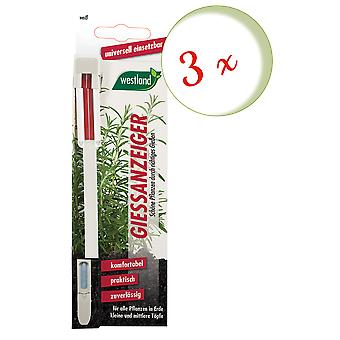 Sparset: 3 x WESTLAND® watering indicator for potting soil, 16 cm white