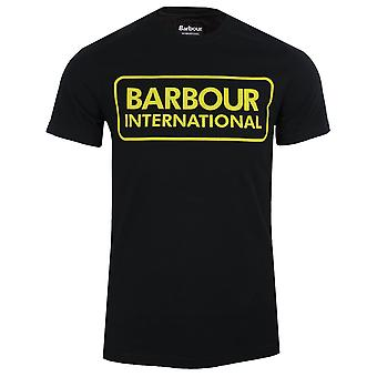 Barbour international men's large logo black t-shirt