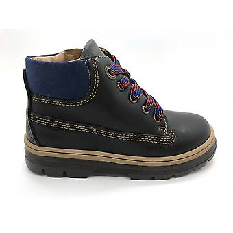 PRIMIGI Zipped & Laced Boot Dark Brown Ppk 44151