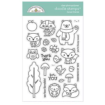 Doodlebug Design Wald Freunde Doodle Briefmarken