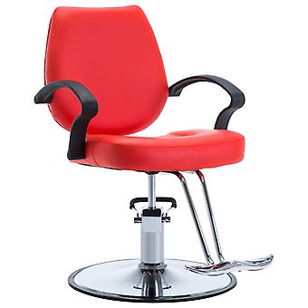 Hairdresser's chair leather imitation red