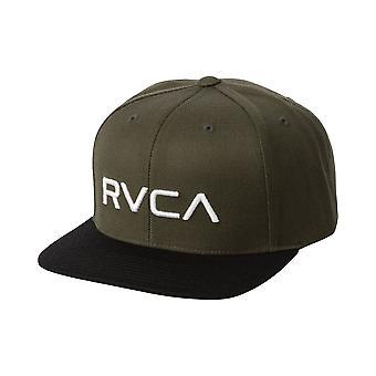 RVCA Snapback Adjustable Cap ~ Twill aloe