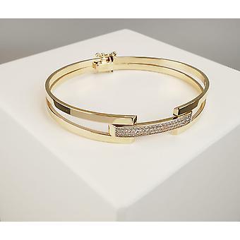 Christian geel en wit gouden armband