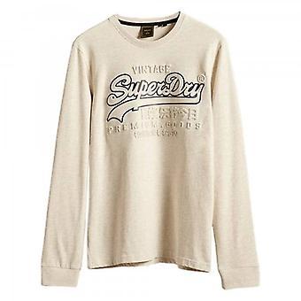 Superdry VL Goffratura LS T-Shirt Cream Marl 43D