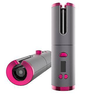 Portable Wireless Automatic Curler Ionic Ceramic Lcd Display Curly