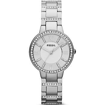 Fóssil ES3282 Virginia Silver Dial Inoxidável Relógio de Senhoras