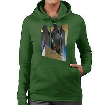 King Kong City Lights Roaring Rage Women's Hooded Sweatshirt