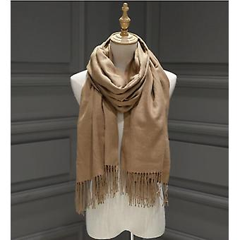 Women Cashmere Scarves With Tassel Lady Winter Autumn Long Scarf