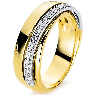 Luna Creation Promessa Ring Multiple Stone Trim 1B971GW855-1 - Ringbreedte: 55