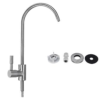 Stainless Steel Kitchen Sink Faucet Single Lever Cold Water Tap Drinking Water