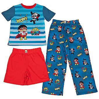 Ryan's World All Over Print 3-Piece Pajama Set