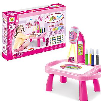 Children Led Projector Art Drawing Table Kids Painting Board Desk
