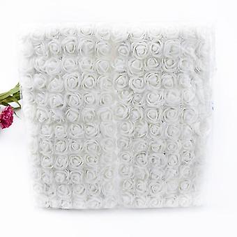 144pcs mini bamse av roser skum pomponer vaser kunstige blomster