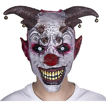 Horror Overhead Clown Mask, Halloween Costume Party Creepy Scary Decoration Props