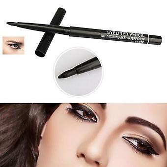 bærbar naturlig eye liner penn, vanntett langvarig lett å bære makeup