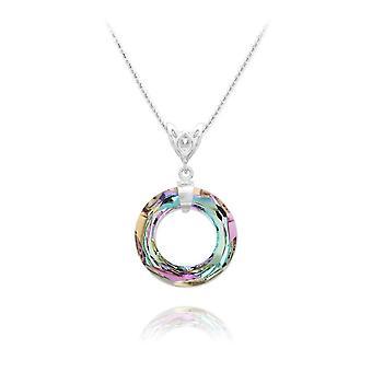 Veelkleurige kristallen ring ketting